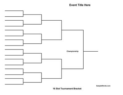 Bracket games bracketville for Game brackets templates